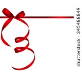 gift card with red ribbon and... | Shutterstock .eps vector #345488849