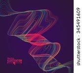 abstract rainbow lines design....   Shutterstock .eps vector #345491609
