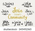 set of join us and our... | Shutterstock .eps vector #345492365