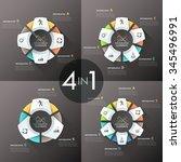 Set Of 4 Modern Infographics...