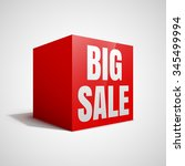 big sale red cube.  | Shutterstock .eps vector #345499994