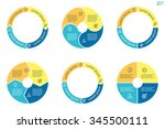 circular diagrams. flat charts  ... | Shutterstock .eps vector #345500111