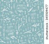 hand drawn doodle vector... | Shutterstock .eps vector #345509477