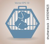 transporting the animals in a... | Shutterstock .eps vector #345509825