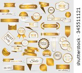 collection of golden premium... | Shutterstock .eps vector #345511121