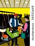 people in indoor  swap meet... | Shutterstock . vector #34551649