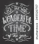 it's the most wonderful time of ... | Shutterstock .eps vector #345520757