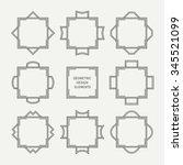set of mono line retro frame.... | Shutterstock .eps vector #345521099