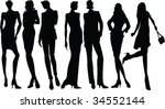 fashion silhouette collection   ... | Shutterstock .eps vector #34552144