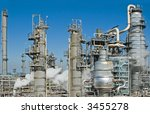 a complex oil refinery for... | Shutterstock . vector #3455278