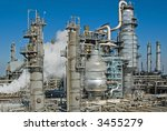 a complex oil refinery for... | Shutterstock . vector #3455279