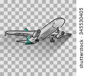 airplane isolated on transparent | Shutterstock .eps vector #345530405