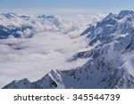 View On Winter Snowy Mountains...