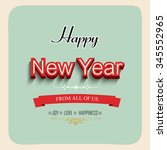 happy new year illustration or... | Shutterstock .eps vector #345552965