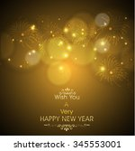 happy new year illustration or... | Shutterstock .eps vector #345553001