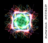 colorful circle sparkler on... | Shutterstock . vector #345558239