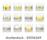 icon set for real estate... | Shutterstock . vector #34556269
