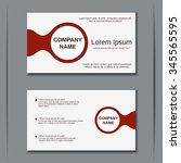 modern two sided visiting card  ... | Shutterstock .eps vector #345565595