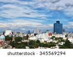 aerial view to mexico city | Shutterstock . vector #345569294