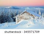 solitary old houses hidden from ... | Shutterstock . vector #345571709
