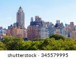 high buildings of midtown... | Shutterstock . vector #345579995