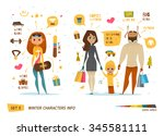 winter characters set | Shutterstock .eps vector #345581111