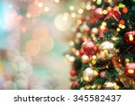 decorated christmas tree  | Shutterstock . vector #345582437