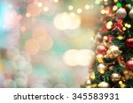 decorated christmas tree  | Shutterstock . vector #345583931