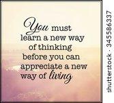 inspirational typographic quote ... | Shutterstock . vector #345586337