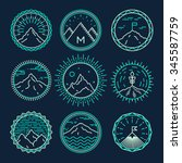 set of mountains icons ... | Shutterstock .eps vector #345587759