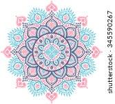 beautiful vector christmas...   Shutterstock .eps vector #345590267
