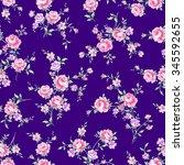 rose illustration pattern | Shutterstock . vector #345592655