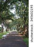 morning run tracks road with... | Shutterstock . vector #345602195