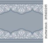 vintage greeting card. | Shutterstock .eps vector #345603245