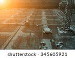 worker in the construction site ... | Shutterstock . vector #345605921