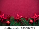 frame with xmas tree and... | Shutterstock . vector #345607799