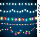 vector set of christmas lights | Shutterstock .eps vector #345609365