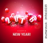 happy new year 2016   greeting... | Shutterstock .eps vector #345610235