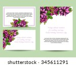 abstract flower background with ...   Shutterstock . vector #345611291
