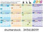 useful desk calendar   planner... | Shutterstock .eps vector #345618059