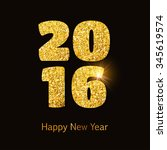 happy 2016 new year background... | Shutterstock .eps vector #345619574
