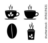 cup of cofee   vector icon  set   Shutterstock .eps vector #345619631