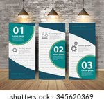 corporate tri fold brochure... | Shutterstock .eps vector #345620369