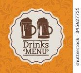 beverage menu design  vector... | Shutterstock .eps vector #345627725