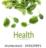 Baby Spinach Leaves Isolated O...