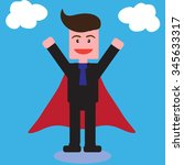 super businessman vector... | Shutterstock .eps vector #345633317