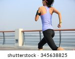 young woman runner athlete... | Shutterstock . vector #345638825