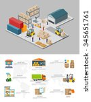 icon 3d isometric process of... | Shutterstock .eps vector #345651761