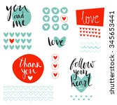 """i love you"" set with stickers  ... 