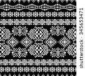 ethnic seamless pattern. ethno... | Shutterstock . vector #345653471